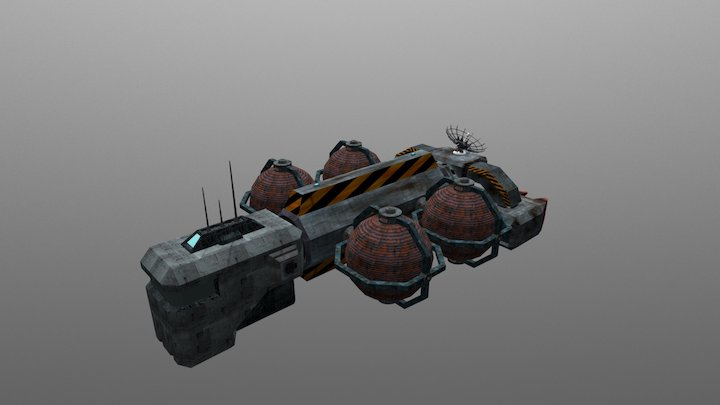 Phantom Freighter 3D Model