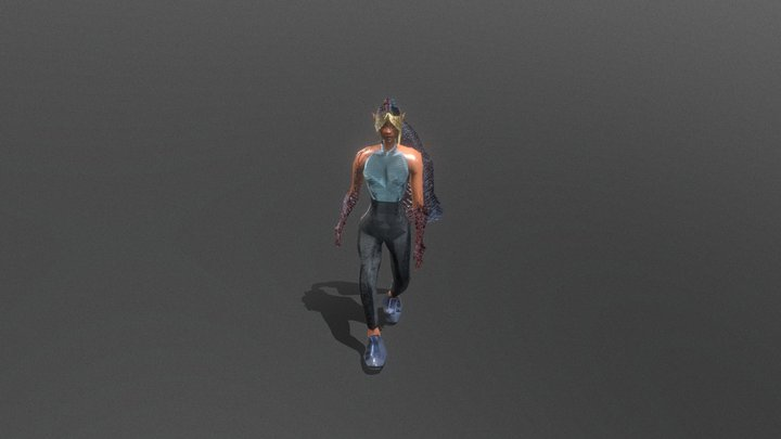AS3 SUBMISSION: FAST-FOOD DELIVERY HERO 3D Model