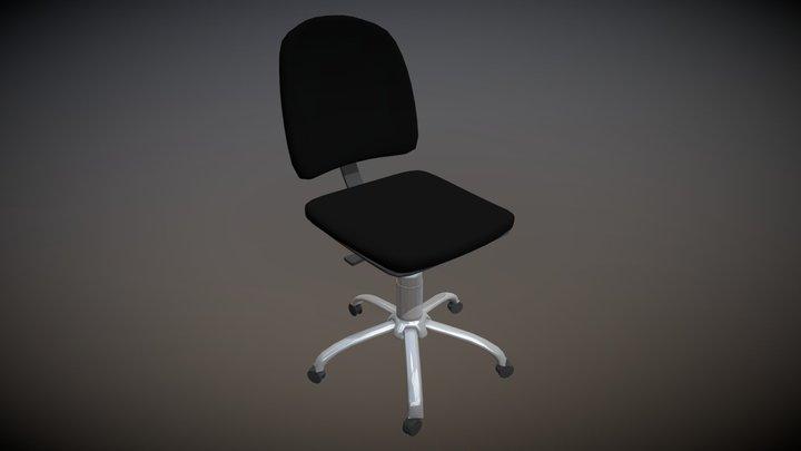 Armless Office Chair 3D Model