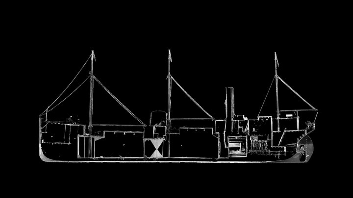 SS Robin - 3D Point Cloud (V,B) - Long Section 3D Model