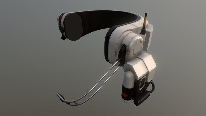 Sci-Fi Headphone 3D Model