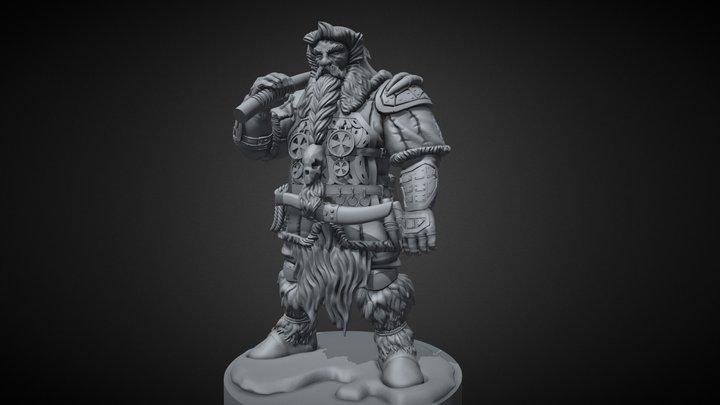 Dwarf hunter 3D print model 3D Model