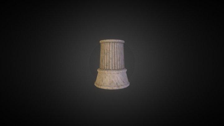 roman chess pillar 3D Model