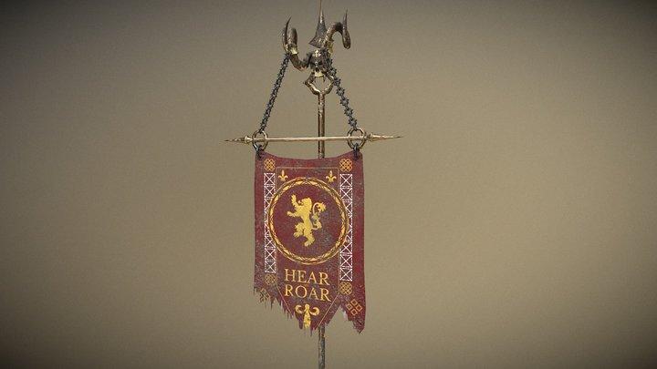 Lannister Flag 3D Model