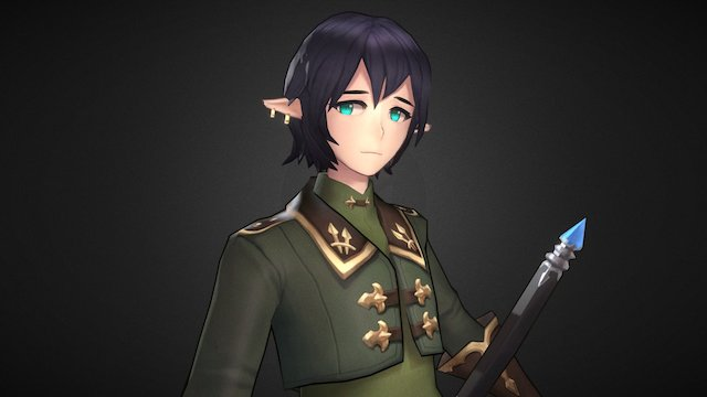 elf knight 3D Model
