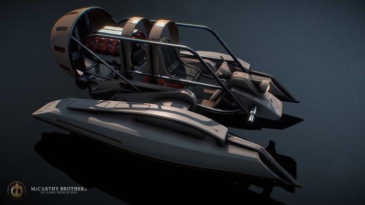 V8 Airboat 3D Model