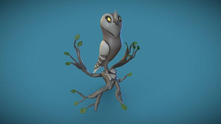 Owl VR Sculpt - Concept by Danielle Brown 3D Model