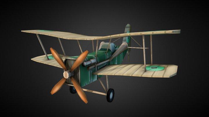Stylized_Se5a World War I Plane 3D Model