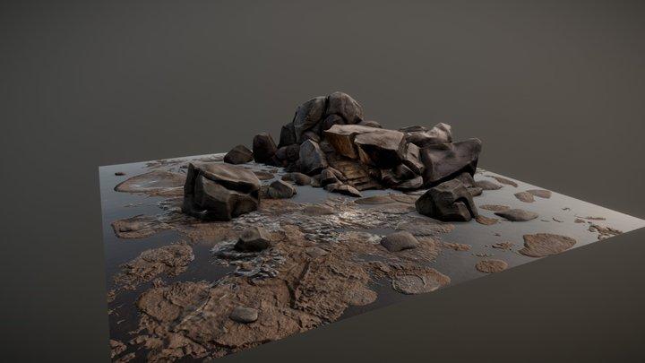 Rocky Terrain 3D Model