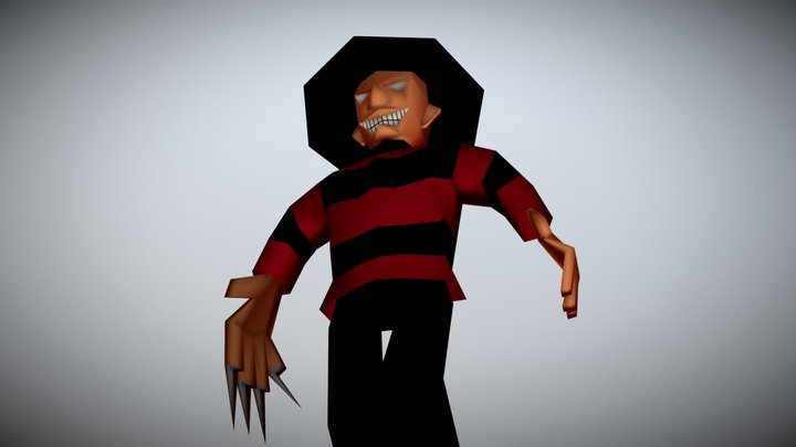 Lowpoly Freddy Krueger 3D Model