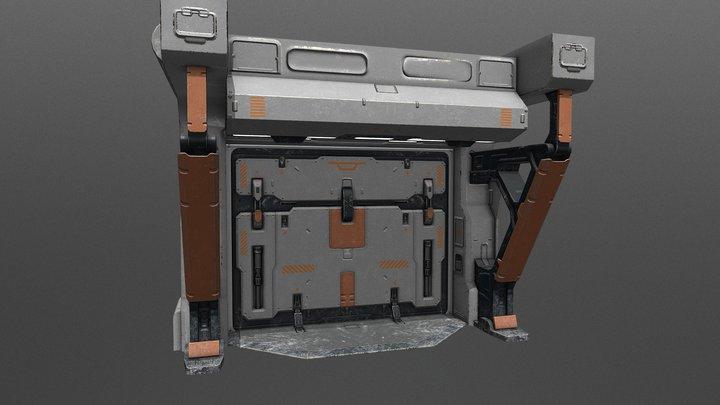 Sci Fi Doors 3D Model