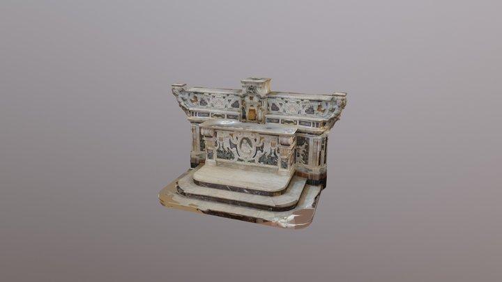 Altare Chiesa di San Salvatore Monopoli 3D Model