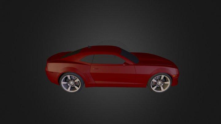 Camaro Red 3D Model