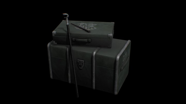 Suitcase Drago Malfoy 3D Model