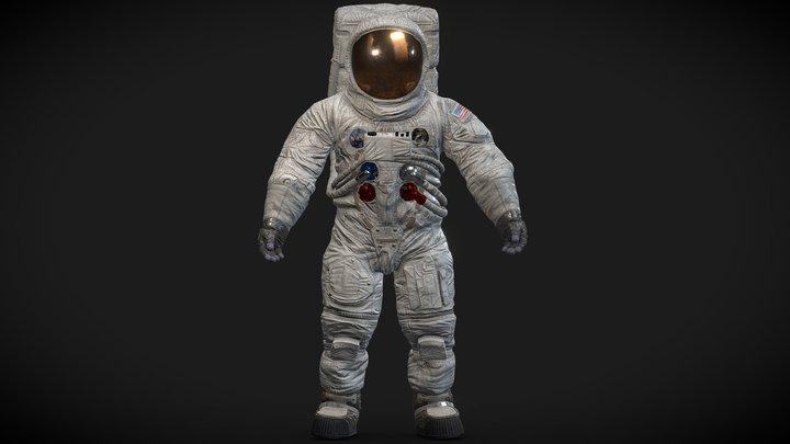 Spacesuit  A7-L Apollo 11 3D Model