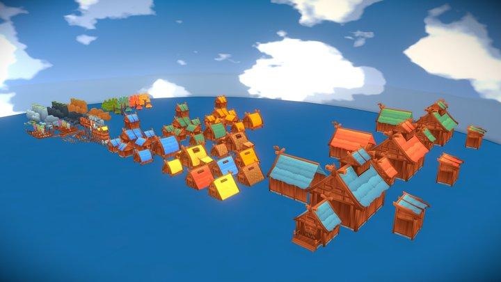 Nordic Village - Assets 3D Model