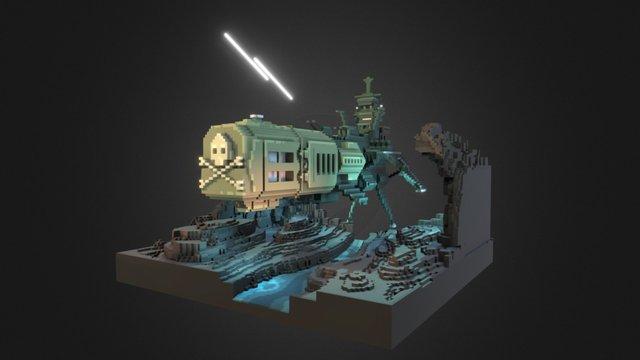 Arcadia spaceship 3D Model