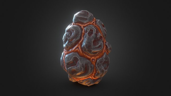 Dragon Egg - 16 3D Model