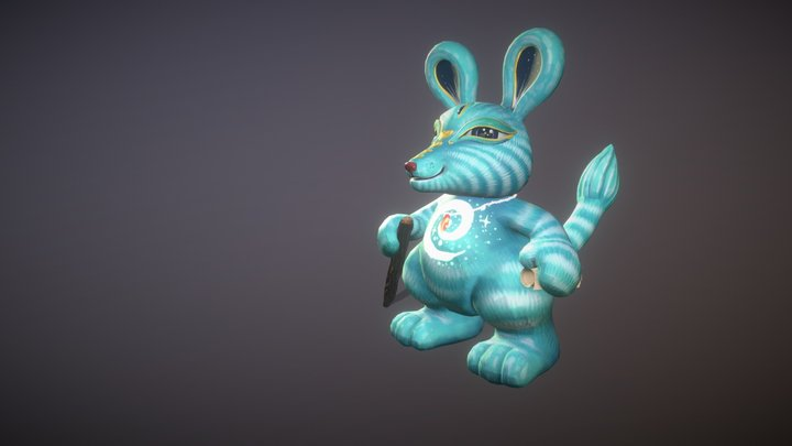 The Wizard Bunny Version 1 3D Model