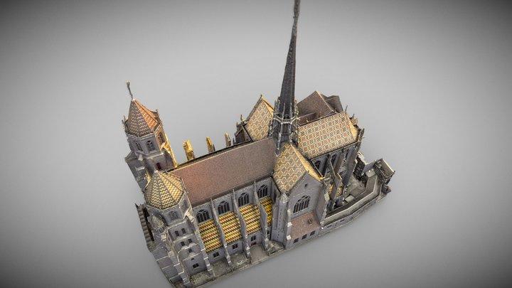 Cathédrale Saint Bégnine_DIJON 3D Model