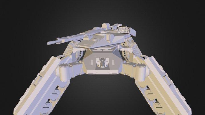 High- Mobility- Gecko- Tank 3D Model