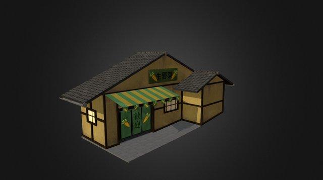 Japanese Vegetable Store 3D Model
