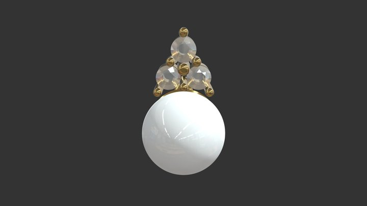 Pearl Pendant 3D Model