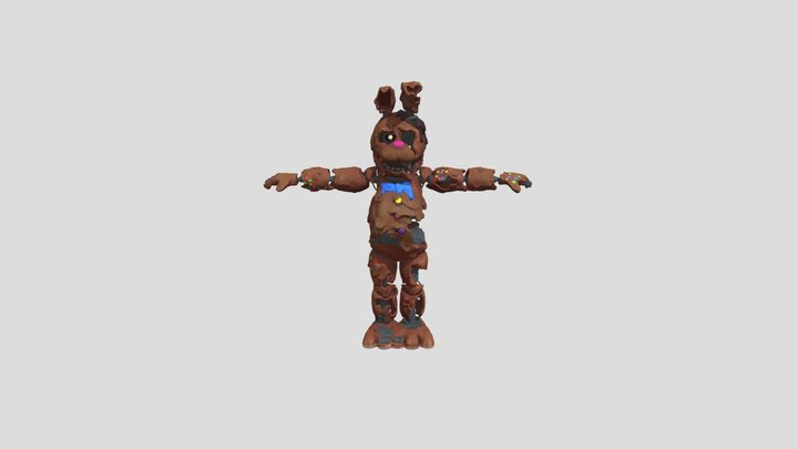 Melted Chocolate Bonnie Special Delivery 3D Model