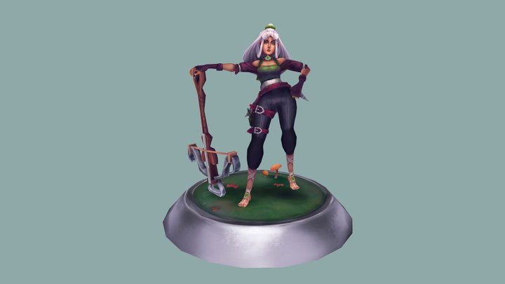 Elaina - League of Legends Fan Character 3D Model