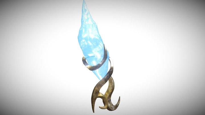 Mage Pillar Crystal 3D Model