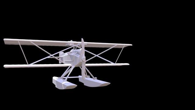 Hansa Brandenburg KDW Seaplane 3D Model