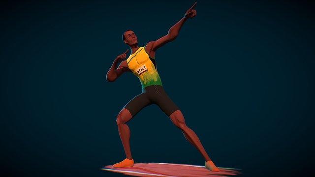 Usain Bolt 3D Model