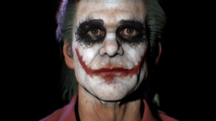 Jim Carrey As Joker 3D Model 3D Model