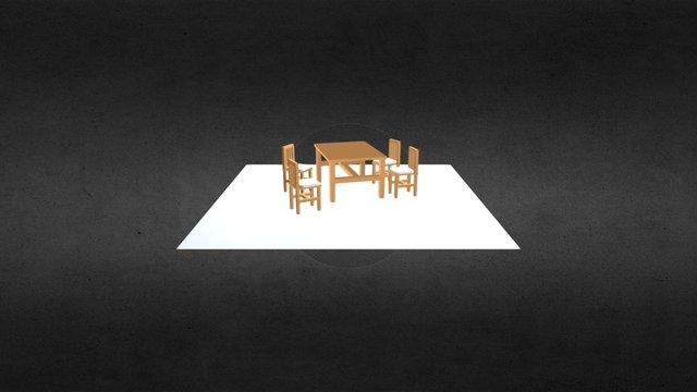 Juego Comedor 3D Model