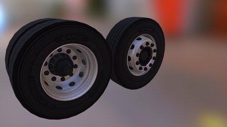 Rodas de Aço 22.5 3D Model