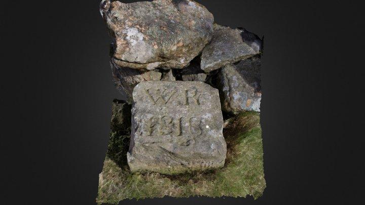 Commonty Of Falkland Boundary Stone #2 3D Model