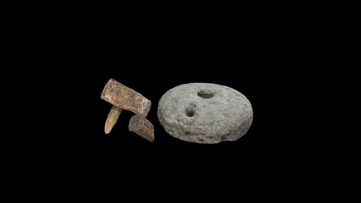 Macina in conglomerato Millstone in conglomerate 3D Model