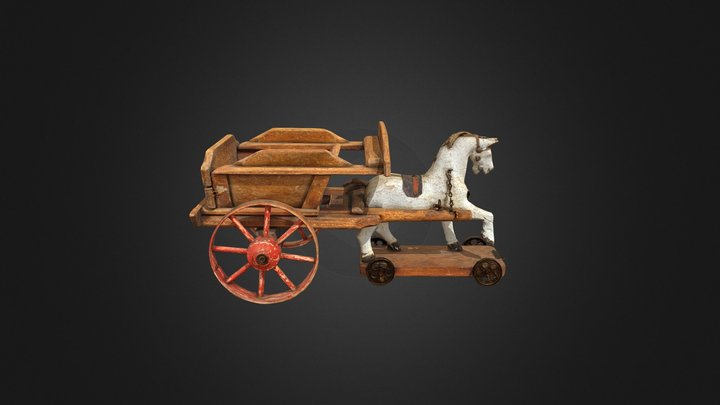 Horse and cart toy 3D Model