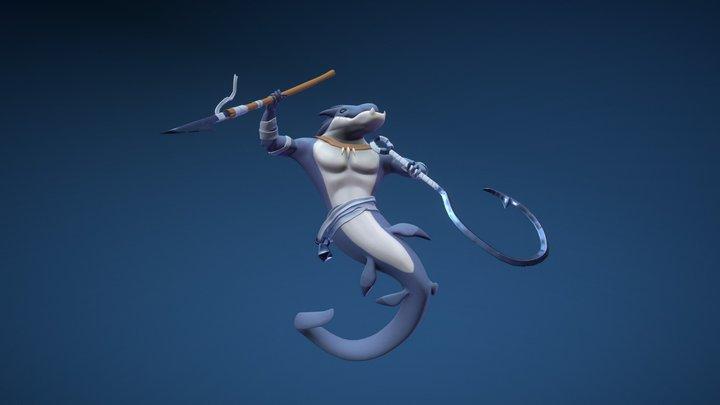 Merfolk Hunter 3D Model