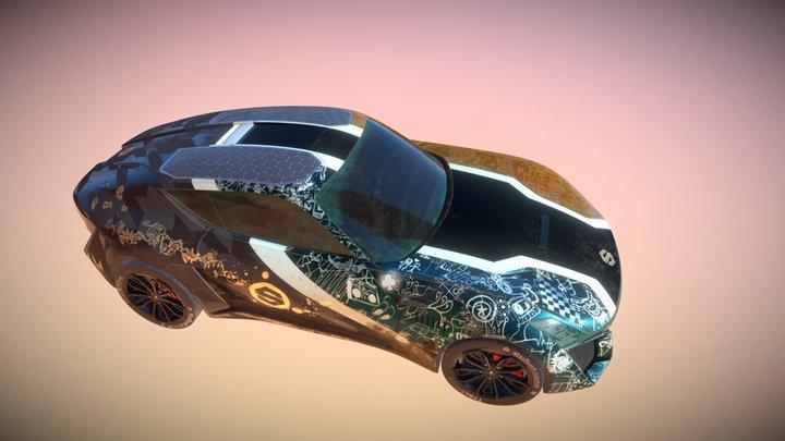 XTAON Art Car 3D Model