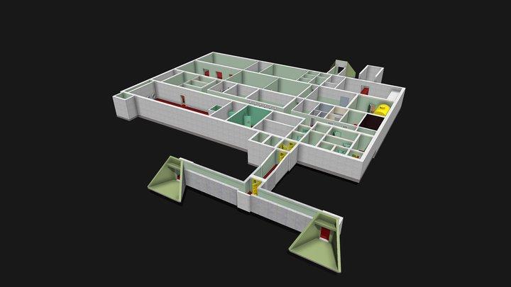 Stütznachrichtenzentrale der GSSD 3D Model