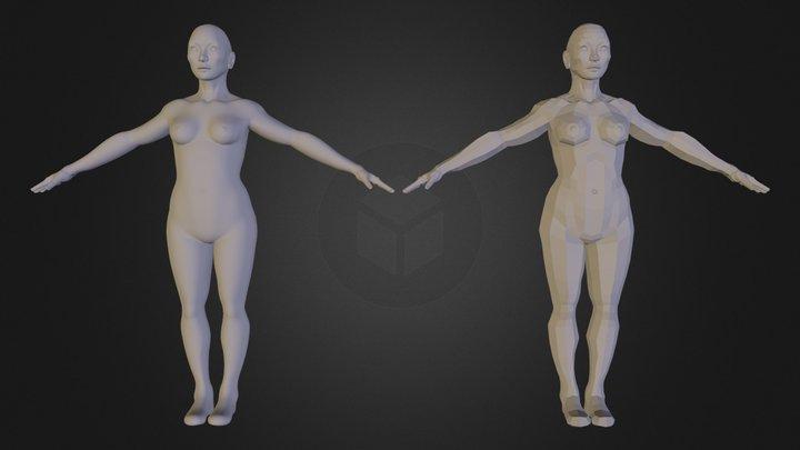 Basic Female Human Model 3D Model