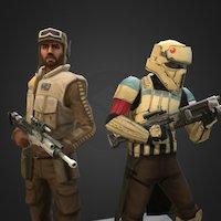 Shoretrooper & Scarif Rebel Pathfinder - SW: GoH 3D Model