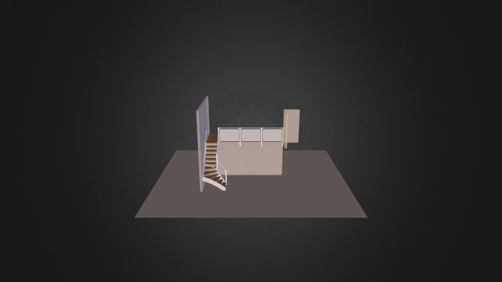 Trappa_Trappor_Stair_pvikL-2 3D Model