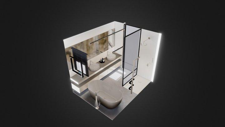 Bathroom interior in interactieve 3D viewer 3D Model