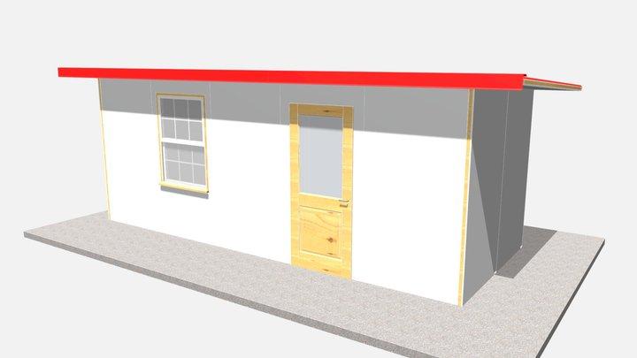 160 sq ft 15 sq m 3D Model