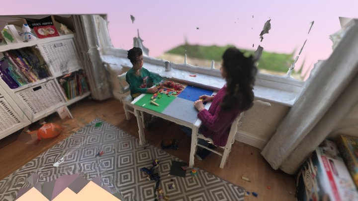 Lego Table 3D Model