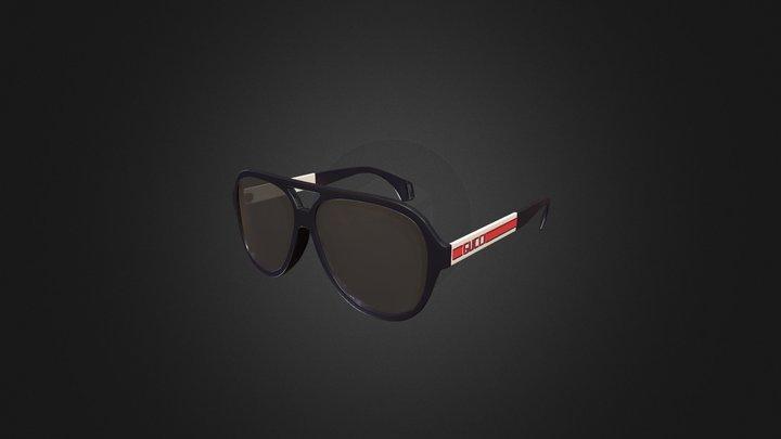 GUCCI Aviator sunglasses with Gucci stripe 3D Model