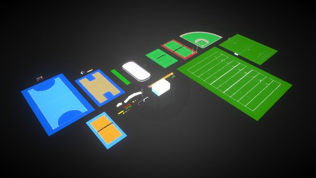 Ball Games - Ultimate Sport Package 3D Model