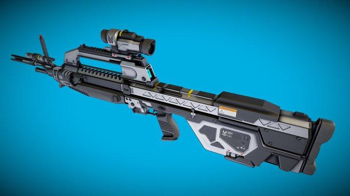 Halo Reach Battle Rifle Concept 3D Model